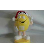 M Ms Yellow Peanut Christmas Santa Tube Topper Bobblehead Toysite 3 3/4 ... - $4.99