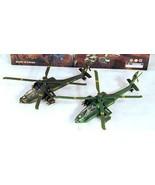 2 PULLBACK BLACK HAWK HELICOPTERS military metal toys DIECAST METAL play... - $9.45