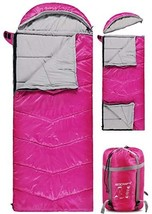 REDCAMP Kids Sleeping Bag for Camping, 32-77 Degree 3 Season Warm or Cold Weathe - $75.00