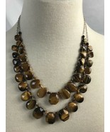 QVC Dual Strand Carved Tiger's Eye Necklace - $34.89