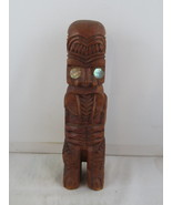 Vintage Carved Maori Tiki - Carved Teko with Tongue Out - Made from Wood - $65.00