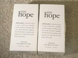 (2) Boxes Philosophy Eye Hope Advanced Anti Aging Eye Cream 0.5 Oz. Each - $24.52