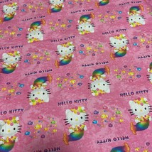 Vintage Sanrio Hello Kitty Fabric 0.5 Yards Cotton Mermaids Pink Limited... - $44.00