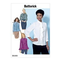 Butterick Patterns B6488E50 Misses' Tops with Neckline and Sleeve Variat... - $13.37