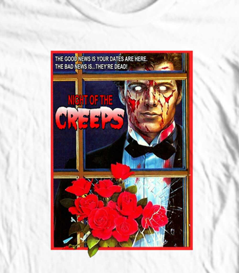 Night of the Creeps T-shirt retro 1980's Zombie slasher horror movie cotton tee