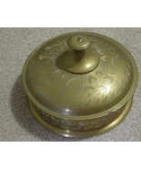 Indian Decorative Brass Candy dish with lid - $15.00