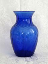 "Indiana Glass Cobalt Blue Swirl 5-1/2"" Vase - $9.89"