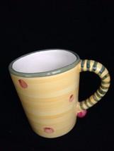 Mackenzie Childs  V & R Emprise Ceramic Yellow Pink Polka Dot Coffee Mug... - $78.21