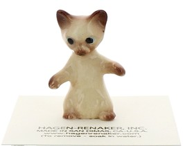 Hagen-Renaker Miniature Cat Figurine Siamese Kitten Sitting Chocolate Point