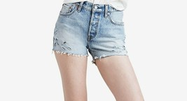 Levis 501 Juniors Cotton Cutoff Denim Shorts Cutthroat  25 - $29.69