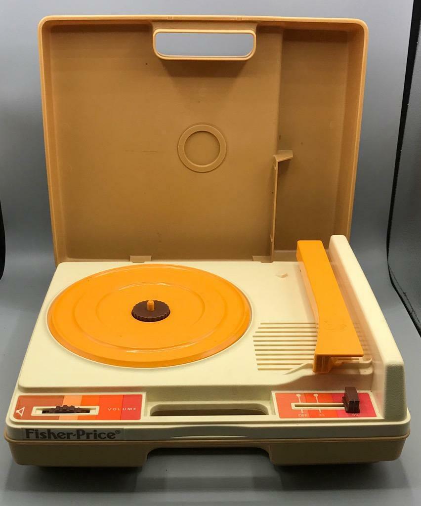 Fisher Price 825 Tragbar Record Player 2-Speed ✿ 1978 Vtg