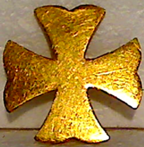 Bright Gold Plated US Army Spanish-American War Era Officer's Collar Pin Device - $15.00