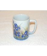 VINTAGE OTAGIRI BLUE ROYAL IRIS CERAMIC 8 oz COFFEE TEA CUP GUC - $12.99