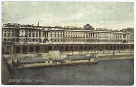 Somerset House London Vintage Colored Postcard Unused - $2.25