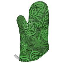 St Patricks Day Trippy Irish Clover Field All Over Oven Mitt - $16.95