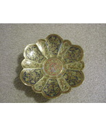 Footed decorative painted brass candy dish made in India - $15.00