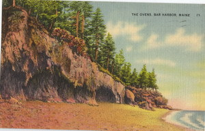 The Ovens Bar Harbor Maine Vintage Linen Postcard