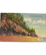 The Ovens Bar Harbor Maine Vintage Linen Postcard - $2.25