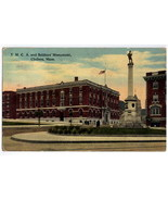 Vintage Chelsea Mass YMCA and Soldiers Monument Postcard 191 - $2.25