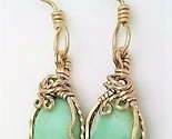 Variscite gold wire wrap earrings 10 thumb155 crop