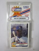 1993 Fleer pro Figurine Beloit Brewers Minor League Baseball Team Cartoline Set - $11.87