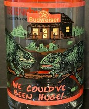 Budweiser Glass Tumbler Lizards Louie & Frank We Could've Been Huge 1998... - $23.33