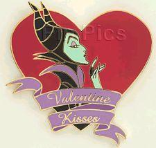 Disney Auctions (P.I.N.S.) Valentine Maleficent Kisses