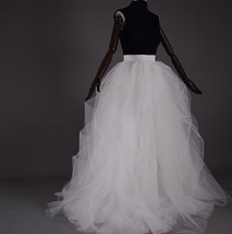 WHITE Detachable Tulle Skirt White Tulle Bridal Skirt High Waisted Wedding Skirt image 7