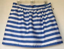 bbce32c752ce54 NEW LILLY PULITZER Sz M Mimosa Skirt In Worth Blue Swizzle Stripe with P..