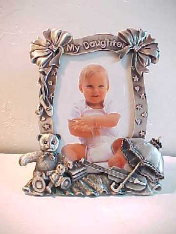 Silvertone Metal MY DAUGHTER 3 D Picture Frame by Perfect