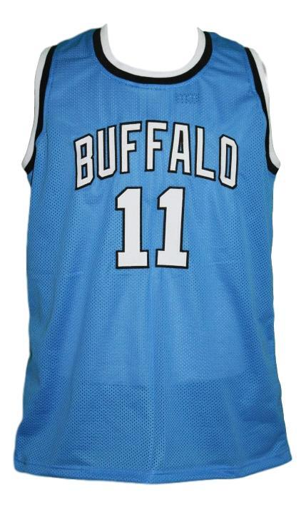 Bob mcadoo  11 custom college buffalo basketball jersey blue   1