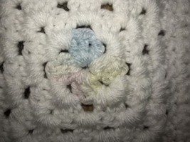 New Hand Crochet Granny Square Handmade Baby Toddler Blanket Crib Throw ... - ₹2,592.12 INR