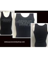 Women's Absolut Vodka Black Tank Top NWOT Sz M Made in USA - $9.99