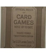 1920 Hoyle Card Games Rule Book Cincinnati U.S. Playing Card Co. 24th ed... - $33.75