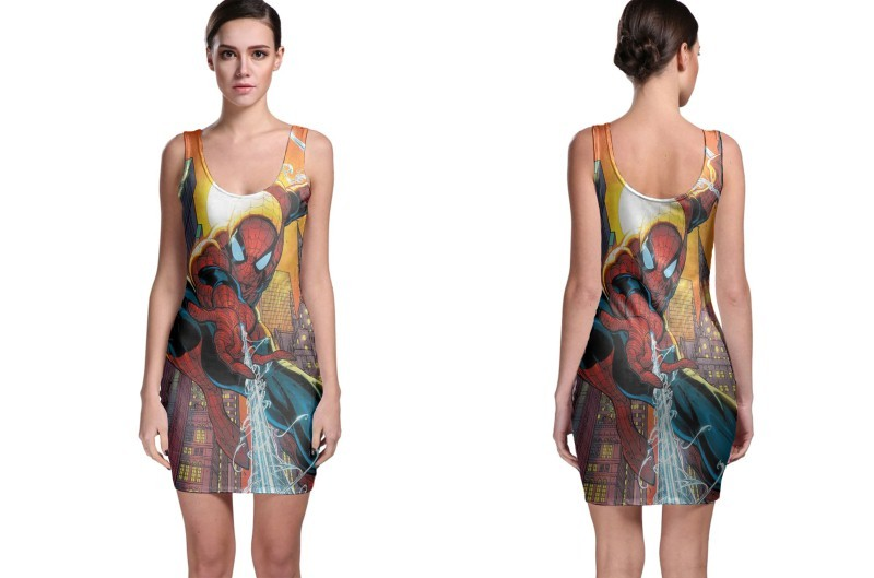 Spiderman bodycon dress