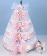 DELUXE DIAPER CAKE DELIGHT BABY GIRL GIFT - $288.00