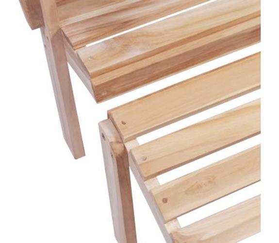 Outdoor Adirondack Chair Garden Wood Teak Sun Lounger Patio Seater W/ Footrest