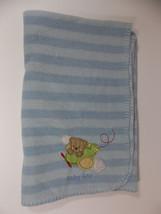 Circo Blue Baby Boy Airplane Blanket 40x30in Striped Security Lovey Tedd... - $17.99