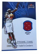 2002-03 Fleer Premium - Prime Time Game Used #4 Darius Miles Game Worn S... - $3.49