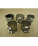 Standard Lot of 5 Pipe Clamps Metal - $21.31