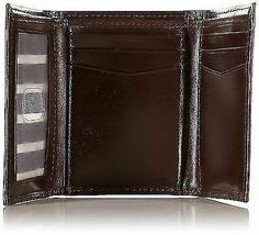 New Nautica Men's Premium Leather Credit Card Id Wallet Trifold Brown 31NU11X017 image 3