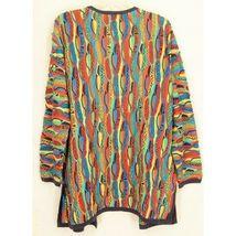 COOGI-sweater-SZ-M-100-silk-cardigan-brilliant-colorful lightweight image 7