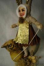Vintage Inspired Spun Cotton, Chick Rider Bunny Girl image 3