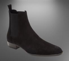 Handmade Men Suede HighAnkle Chelsea Boots image 1