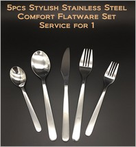 5pcs - New Modern, Stylish & Classic Stainless Steel Flatware Set for 1 - $8.92