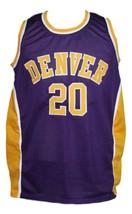 Custom Name # Denver Rockets Aba Basketball Jersey New Sewn Purple Any Size image 1