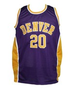 Custom Name # Denver Rockets Aba Basketball Jersey New Sewn Purple Any Size - $40.49+