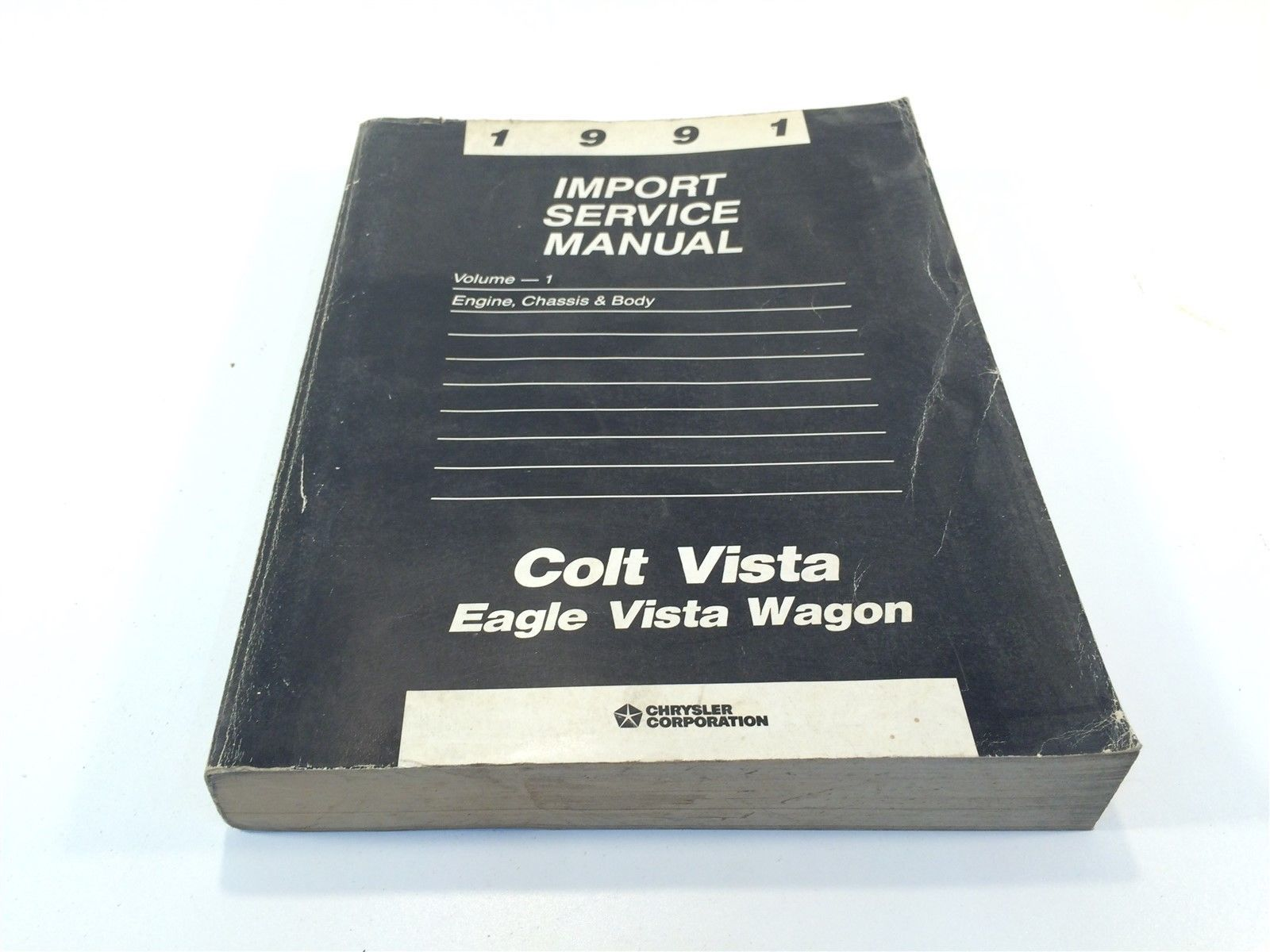 1991 Chrysler Import Service Manual Volume-1 Engine Chassis & Body Colt Vista - $14.99