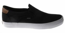 WeSC Homme Noir Luiz Toile à Enfiler Mode Basket Skate Chaussures B205927999 Nib image 2