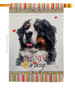 Bernese Cattle Happiness - Impressions Decorative House Flag H110183-BO - $40.97